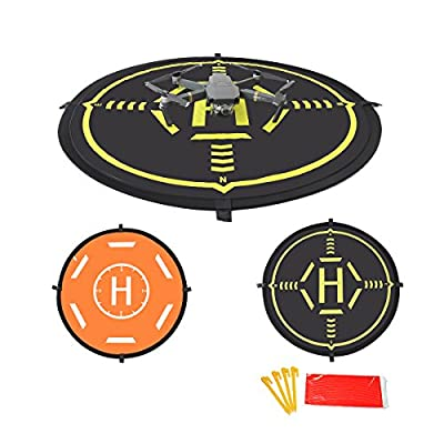 Drone Landing Pad Universal Foldable Drone Luminous Function 2 Sides Used for DJI Mavic PRO/SPARK/Phantom 3 Phantom 4 Inspire 1 Quadcopter