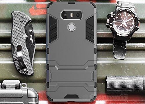 Preisvergleich Produktbild LG G6 Schutzhülle, Cocomii® [HEAVY DUTY] Iron Man Case :::NEUE::: [ULTRA KRIEG RÜSTUNG] Premium Stoßfest Ständer Hülle Bumper [MILITARY DEFENDER] Voller Körper Robuste Dual Layer Hybrid Schutzabdeckung Cover Bumper Case [COCOMII GARANTIE] ::: Der Ultimative Schutz Vor Stürzen Und Auswirkungen Für Ihr LG G6 :::  (Gray)