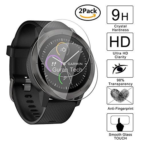 Guran 2 Stück Displayschutz Glasfolie für Garmin vívoactive 3 GPS-Fitness-Smartwatch Hartglas Schutzfolie Film 3D Touch Kompatibel Panzerglasfolie