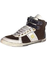 Antony Morato MMFW00055 - Zapatos de cordones de cuero para hombre, color azul, talla 43