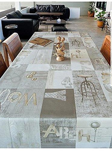 Gris, Vintage, diseño de madera arte por wjdhome, limpiar mantel de hule/PVC....