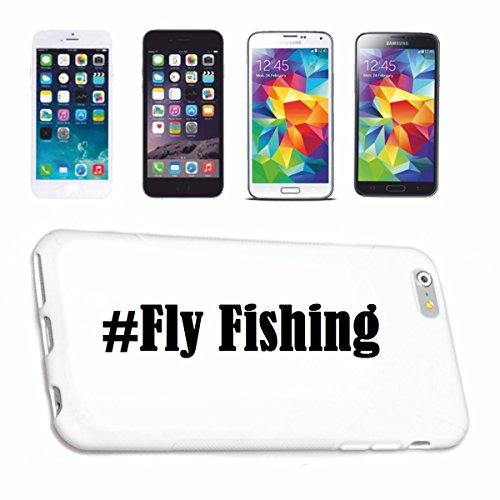 Handyhülle Samsung S5 Mini Galaxy Hashtag ... #Fly Fishing ... im Social Network Design Hardcase Schutzhülle Handycover Smart Cover für Samsung Galaxy Smartphone ... in Weiß ... Schlank und schön, das is (Fly Cover Samsung S5 Mini)
