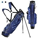 COSTWAY Golftasche 9 inch Golfbag Pencil Bag Profi-Reisebag Ständerbag mit Kopfteil und Tragegurt (blau)