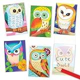 Cuadernos de Notas perfumados con Diseño de Búhos - Juguetes perfectos para Bolsas Sorpresa para Niños (Pack DE 12)