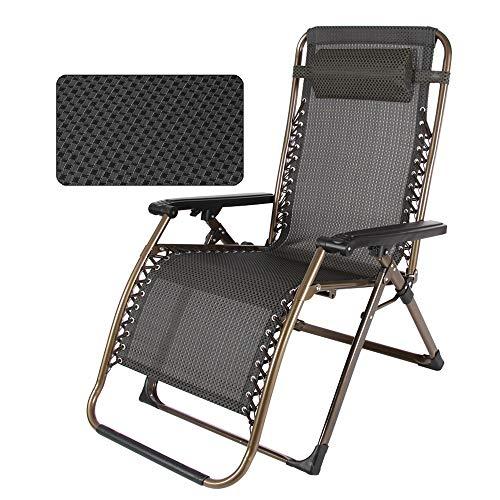 DD-Bains de soleil, Chaise Longue, Chaise Longue Balcon Chaise Pliante Paresseux, Chaise Longue Portable Lit Sieste, Chaise Adulte Sièges extérieurs (Couleur : A)