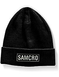 Officiellement Marchandises Sous Licence SAMCRO Brodé Bonnet (Noir)
