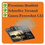 3 x Displayschutzfolie von 4ProTec für Canon PowerShot G15 - Schutzfolie crystalclear