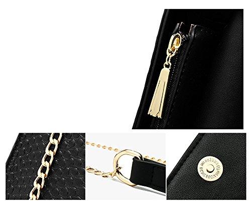 Pacchetto elegante dell'atmosfera, versione coreana del piccolo pacco, zaino obliqua delle spalle, borse semplici semplici ( Colore : Nero ) Grigio