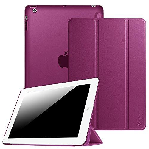 Fintie iPad 2/3 / 4 Hülle - Ultradünne Superleicht Schutzhülle mit Transparenter Rückseite Abdeckung Cover mit Auto Schlaf/Wach Funktion für Apple iPad 2 / iPad 3 / iPad 4 Retina, Lila