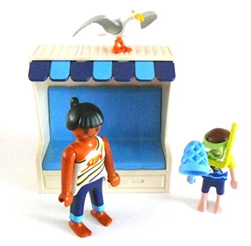 LEGO ® - Mann Vater mit Kind Schnorchel Netzt Strandkorb Möwe