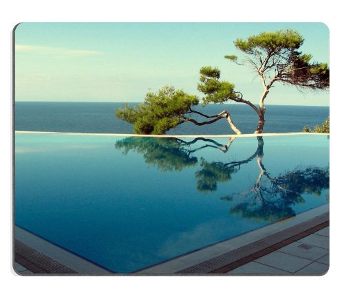 Allgemeine Hohe Qualität Calm Tranquil Ocean Single Pine Tree Maus Pads