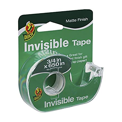Ente Marke Invisible Tape mit Dispenser, .75 Zoll x 1.651 cm, klar (1358685)