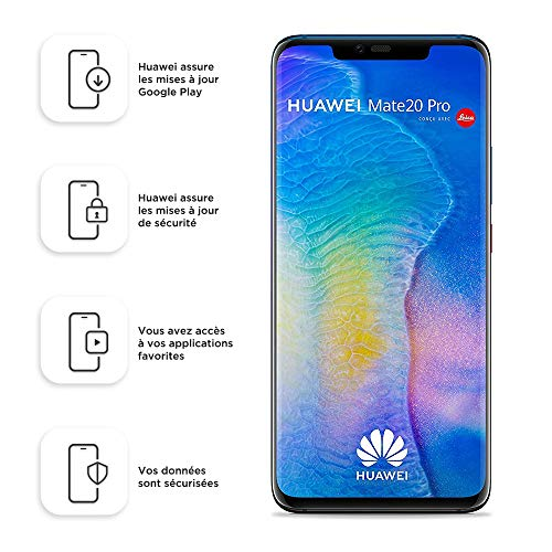 Lila Handy (Huawei Mate 20 Pro 128GB Handy, blau/lila, Android 9.0 (Pie), Dual SIM, Twilight (West European Version))
