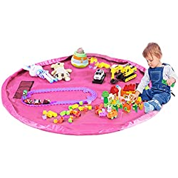 Children' s Play Mat and Toys Storage Bag - 152,4 cm Kids Playbag Toys organizer Quick Pouch. Ideale per medie e grandi dimensioni giocattolo, portatile