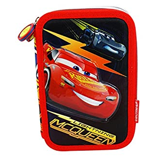 Cars Race 3 Estuche Escolar Làpices de colores Plumier triple