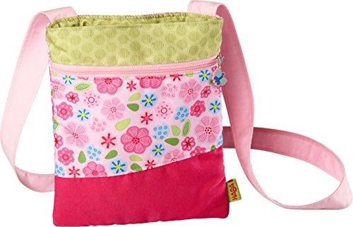 (HABA 302607 – Kinder-Tasche Wilma, zauberhafte Kinder-Tasche für Mädchen ab 2 Jahren, kleine Umhängetasche aus Polyester mit bezauberndem Blumenmuster, mit Reißverschluss,  Geschenk zum Geburtstag)