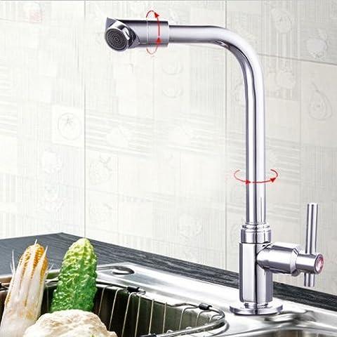 Rotation de 360° d'un robinet d'eau Cuisine Salle de bain Bassin Robinet de lavabo BBHYY chromé