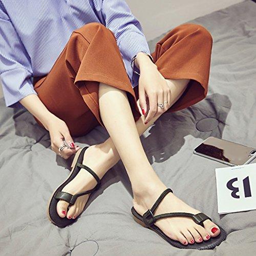 PENGFEI sandali delle donne Flip-flops Pantofole da spiaggia estate Scivolo antiscivolo Flip flop femminile di sandali femminili Nero, verde e rosa Confortevole e traspirante ( Colore : Verde , dimens Verde