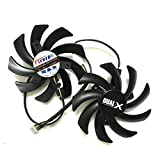 iHaospace FDC10H12S9-C 85 mm Grafikkarte Für Sapphire Radeon Dual-X Lüfter R9 270 280 280X 285 HD7850 7870 7950 7970 4Pin Stromanschluss