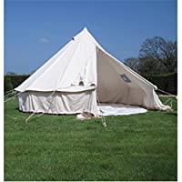 4M Bell Tent With Chimney Fitting Canvas Waterproof Rot-proof 10