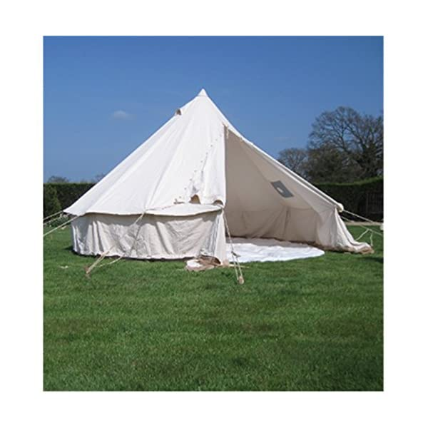 4M Bell Tent With Chimney Fitting Canvas Waterproof Rot-proof 1
