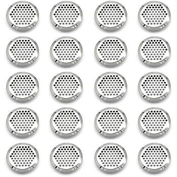GOODCHANCEUK Lot de 30 grilles de ventilation perfor/ées en acier inoxydable pour armoire ou armoire /à chaussures Argent/é