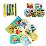 HWTOP Baby Badebuch Tuch Ungiftiges Buch Weiche Babywanne Bücher Quietschgeklapper Gefühl Aktivität Pädagogisches Spielzeug