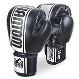 """Phantom Boxhandschuhe """"MT-Pro"""" PU - Schwarz/Weiss - Boxhandschuhe 10oz 12oz 14oz 16oz,Boxhandschuhe Herren Kampfsport"""