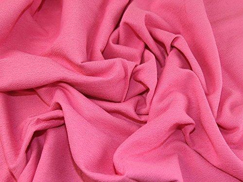 Strukturierte Baumwolle Kleid (Strukturierte Baumwolle & Polyester passend Kleid Stoff Candy Pink-Meterware)