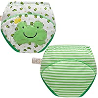 Skhls Unisex Baby Toddler Potty Trainer Training Pants Washable Learning Diaper,Size 2-4 Years