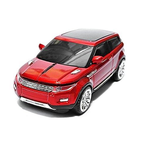 SPECTRONIX Wireless Car Mouse   Range Rover Shaped Optical & Ergonomic Design   Nano USB Receiver 2.4GHz 1600DPI 10 Meter Range for Laptops & PCs Plug & Play in 4 Vibrant Colours (Red)