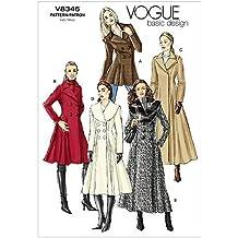 Vogue 8346 - Patrones de Costura para Confeccionar Abrigos de señora