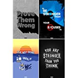 PeppyStop : Combo Pack Of 4 Motivational Wall Posters And Inspirational Quotes For Office And Home Decor (12'' X 18'' Without Frame) Gift Set/Valentine's Gift/Birthday Gift/Return Gift