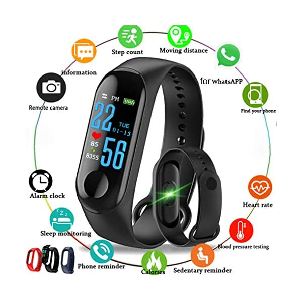 AchidistviQ Sports Blood Pressure Heart Rate Smart Watch Bracelet Wristband Fitness Tracker