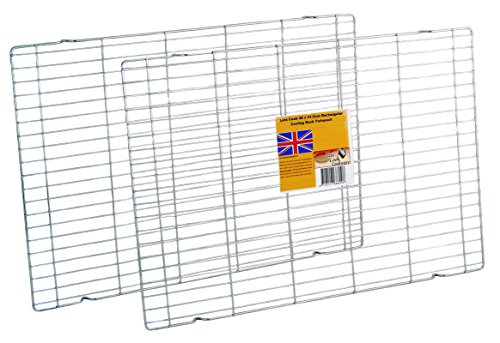 46 x 31.5cm Rectangular Cooling Rack Twin Pack by Lets Cook Cookware