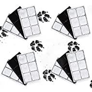 Kenley Pet Fountain Filters for PetSafe Drinkwell - Pack of 12 Activated Carbon Replacement Charcoal Filter Cartridges for Cat Dog Water Drink Fountain fits Original Platinum Outdoor Mini Zen Big Dog