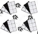 Kenley Filtre de Rechange pour PetSafe Drinkwell Fontaine a Eau pour Animaux Chien et Chat - Lot de 12 - Cartouches Filtrantes au Charbon Compatibles avec Original Platinum Outdoor Mini Zen Big Dog
