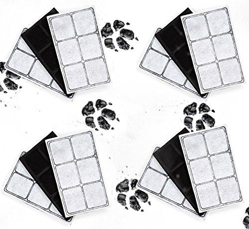 Kenley Ersatzfilter Filter für PetSafe Drinkwell Trinkbrunnen - Zwölferpack Aktivkohlefilter für Katzen Hunde Wasser Fountain Brunnen Katzenbrunnen Haustierbrunnen passt Original Platinum Outdoor Mini