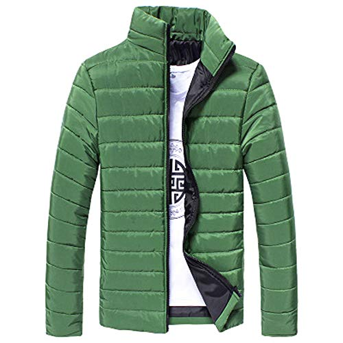 ITISME Homme Manteaux Automne Hiver Chaud en Coton Manteau Décontracté Chaud avec Col Montant Et Manteau à Glissière Mince Et Léger Manteau Blousons Chic