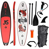 YQY Stand Up Paddleboard Conjunto, Inflable Paddle Board para Adultos Principiantes/intermedios, con el morral, Paleta, Bomba