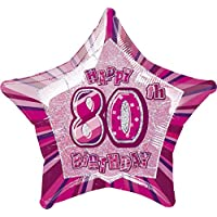 "20"" Glitz Foil Happy Birthday Helium Balloon"