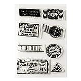 ?Cachet de timbre transparent sceau cachet fiche bricolage joint artisanat Scrapbook...