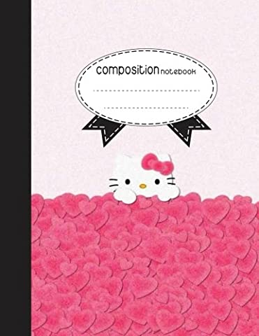Composition Notebook, 8.5 x 11, 110 pages: Pink Kitty : (School Notebooks)