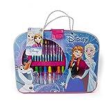 Disney DARP-CFRO128 Malkoffer, Motiv: Frozen in Rosa und Blau, 32-Teiliges Kreativ-Set