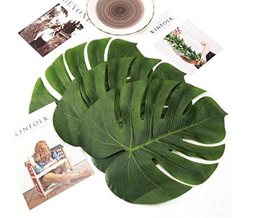 heelinna 20Tropische Blätter Künstliche Blätter Palm Hawaiian Jungle Beach Thema Tropical Party Decor (grün) (29 Palms, Ca)