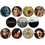 El Hobbit 11 x artículo Collection – Middle Earth Collection (Badge/Magnet/llavero abrebotellas) (Imán (58 mm)) (Badge (25 mm)) (Badge (25 mm)) Badge (58mm) Badge (58mm)