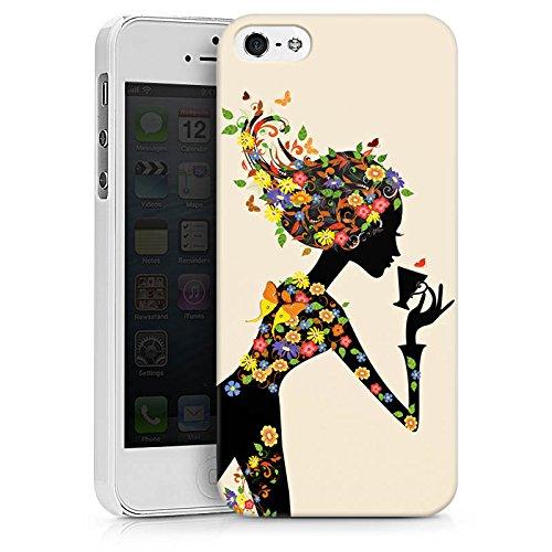 Apple iPhone X Silikon Hülle Case Schutzhülle Kaffee Blumen Silhouette Hard Case weiß