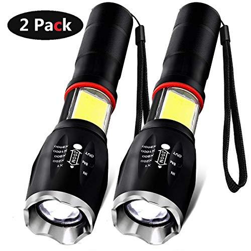 AOMEES LED COB Taschenlampe Arbeits Taschenlampe 6 Modi 1600 Lumen Super Bright Taschenlampe (2 Stück)