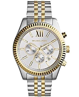 Michael Kors MK8344 - Reloj de cuarzo con correa de acero inoxidable para hombre