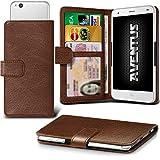 Aventus (Brown) ZTE Blade Vec 4G Premium-PU-Leder Universal